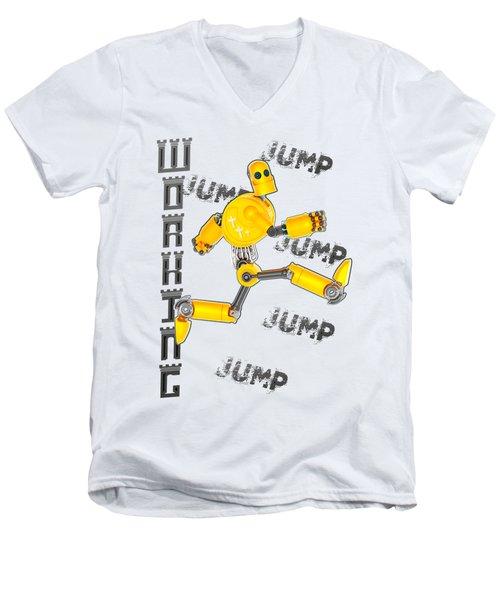 Jesus The Wave Men's V-Neck T-Shirt