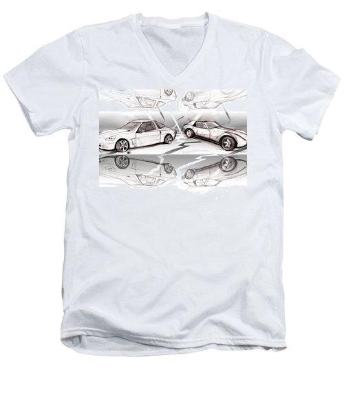 Jet Mikes Cars Men's V-Neck T-Shirt