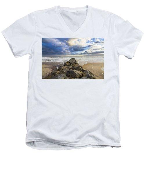 Jetty Four Cloudscape Men's V-Neck T-Shirt