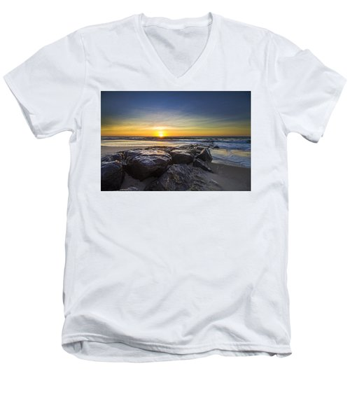 Jetty Four Sunrise Men's V-Neck T-Shirt