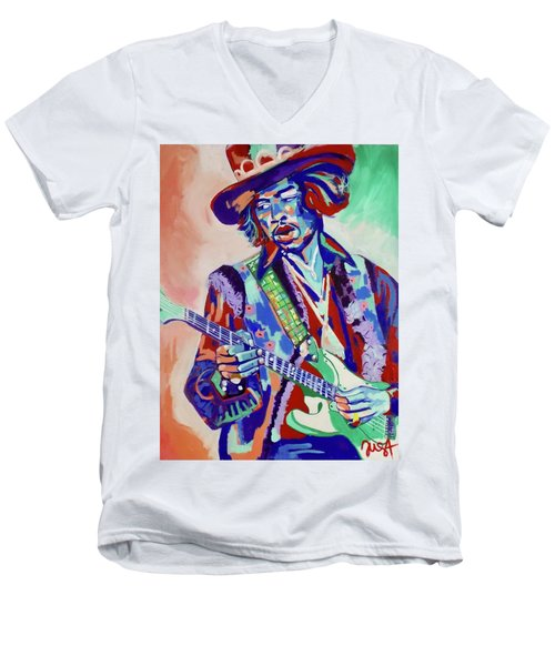 Jimi Hendrix Men's V-Neck T-Shirt