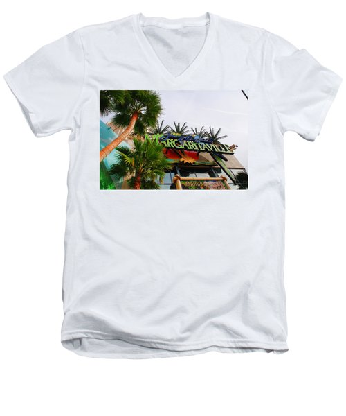 Jimmy Buffets Margaritaville In Las Vegas Men's V-Neck T-Shirt