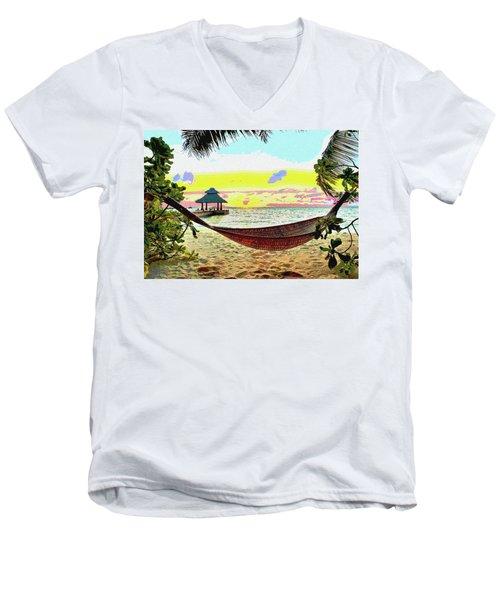Jimmy Buffett's Margaritaville Men's V-Neck T-Shirt