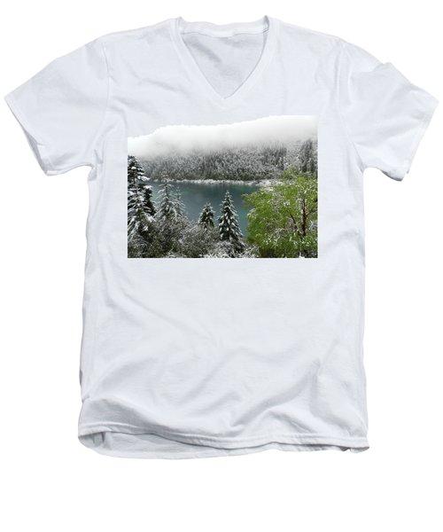 Jiuzhaigou National Park, China Men's V-Neck T-Shirt