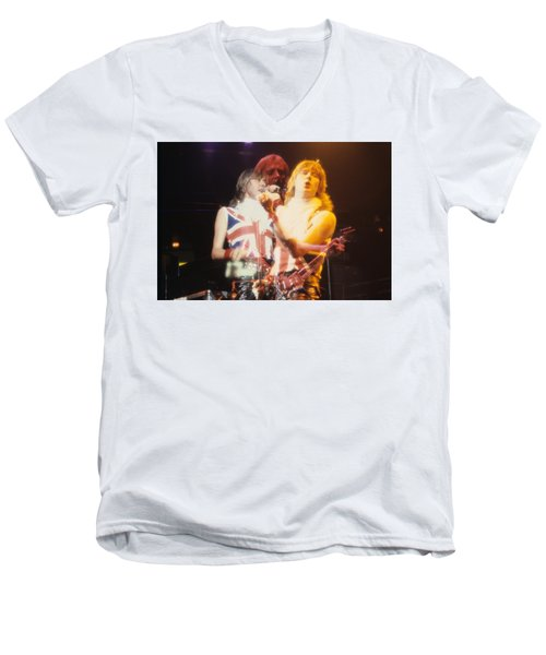 Joe And Phil Of Def Leppard Men's V-Neck T-Shirt by Rich Fuscia