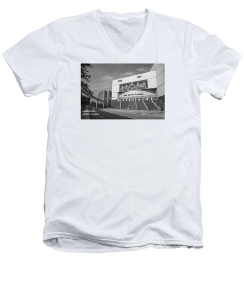 Joe Louis Arena Black And White  Men's V-Neck T-Shirt