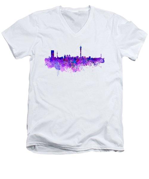 Johannesburg Skyline Men's V-Neck T-Shirt
