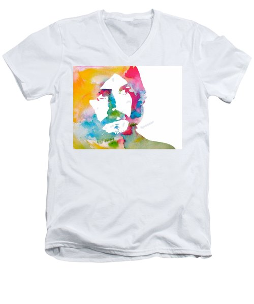 John Bonham Watercolor Men's V-Neck T-Shirt