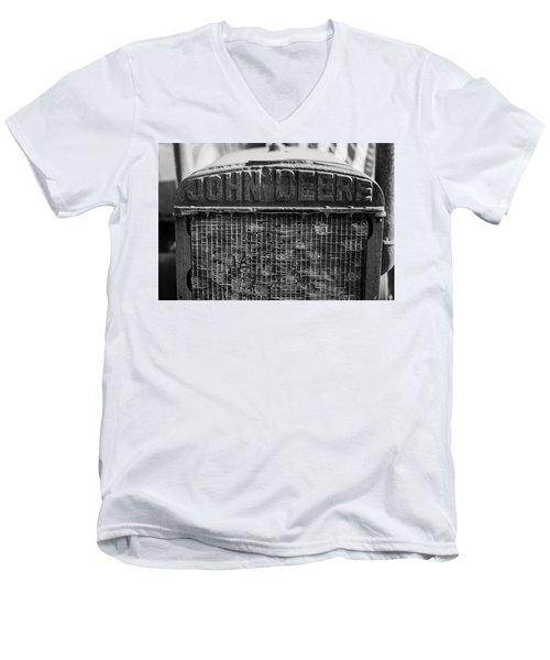 John Deere In Monochrome Men's V-Neck T-Shirt