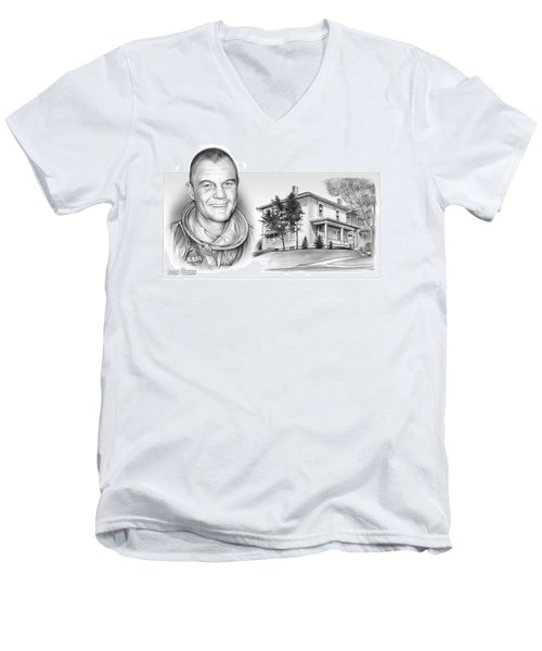 John Glenn Birth Place 2 Men's V-Neck T-Shirt