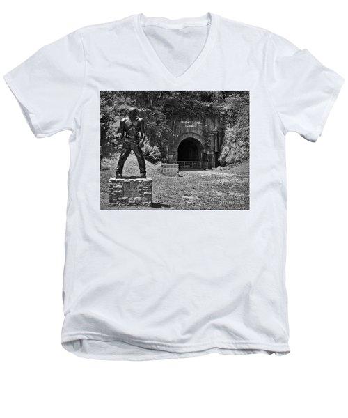 John Henry - Steel Driving Man Men's V-Neck T-Shirt