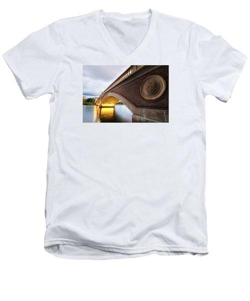 John Weeks Bridge Charles River Harvard Square Cambridge Ma Men's V-Neck T-Shirt