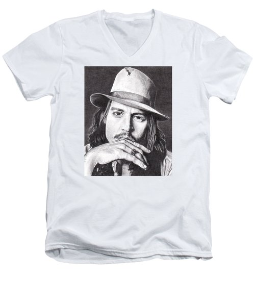 Johnny Depp Men's V-Neck T-Shirt