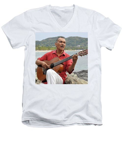 Men's V-Neck T-Shirt featuring the photograph Jose Luis Cobo by Jim Walls PhotoArtist