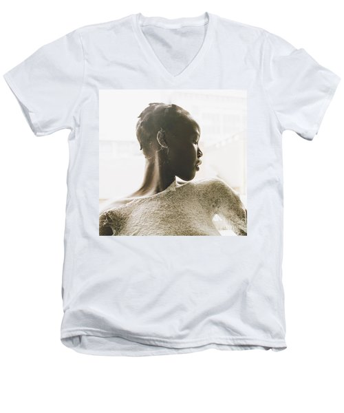 Men's V-Neck T-Shirt featuring the photograph Josephine by Rebecca Harman