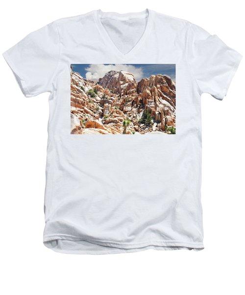 Joshua Tree National Park - Natural Monument Men's V-Neck T-Shirt by Glenn McCarthy Art and Photography