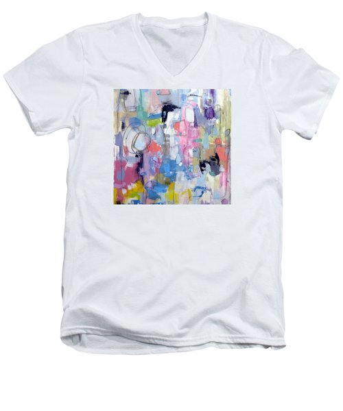 Men's V-Neck T-Shirt featuring the painting Journal by Katie Black
