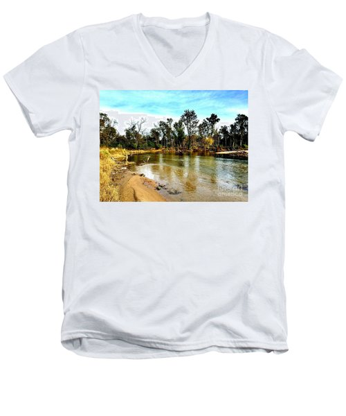 Journey To The Rivers Bend Men's V-Neck T-Shirt