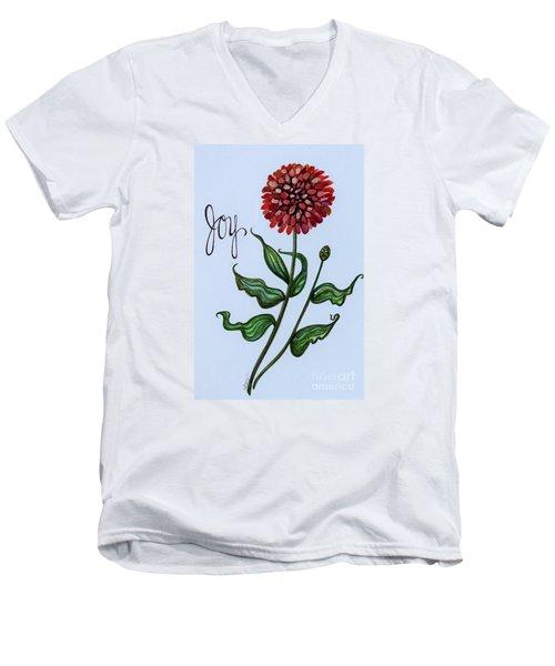 Joy Men's V-Neck T-Shirt by Elizabeth Robinette Tyndall