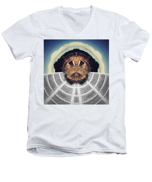 Jump Men's V-Neck T-Shirt by Jorge Ferreira