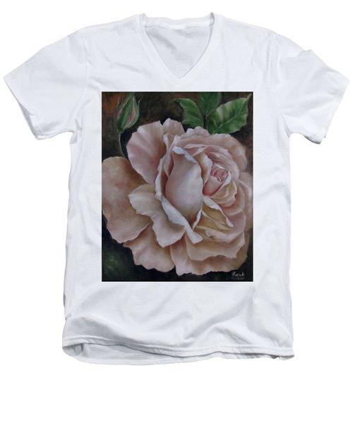 Just A Rose Men's V-Neck T-Shirt by Katia Aho