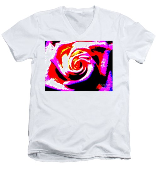 Just A Rose Men's V-Neck T-Shirt by Tim Townsend