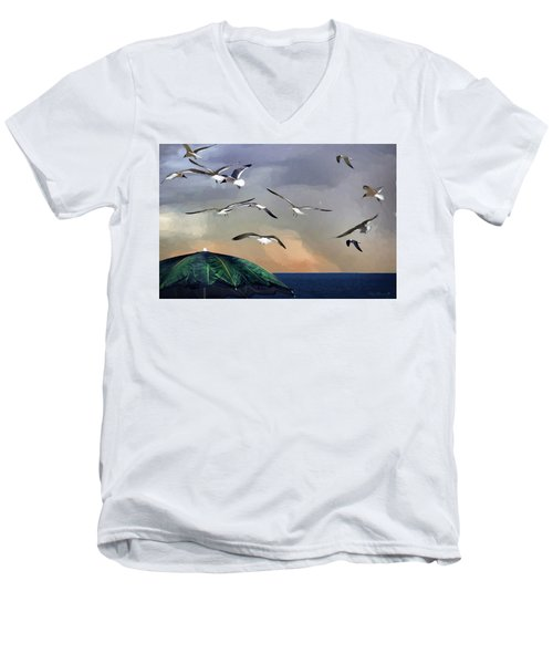 Just Another Day At The Beach Men's V-Neck T-Shirt