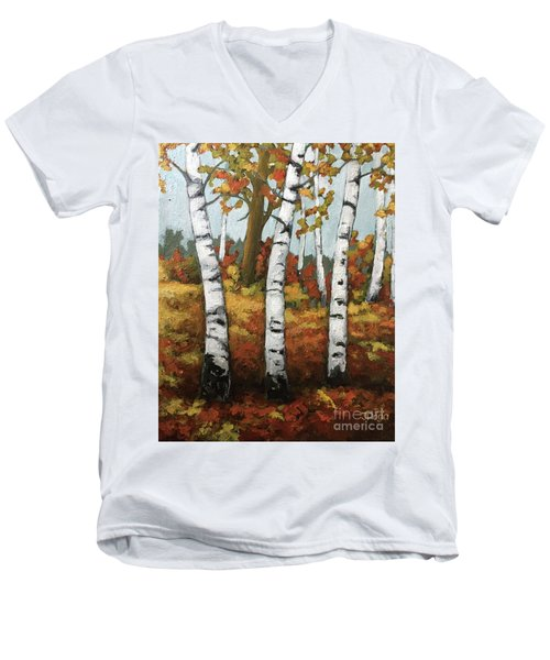 Just Birches Men's V-Neck T-Shirt