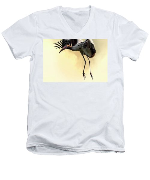 Just Dropping In Men's V-Neck T-Shirt by Cyndy Doty