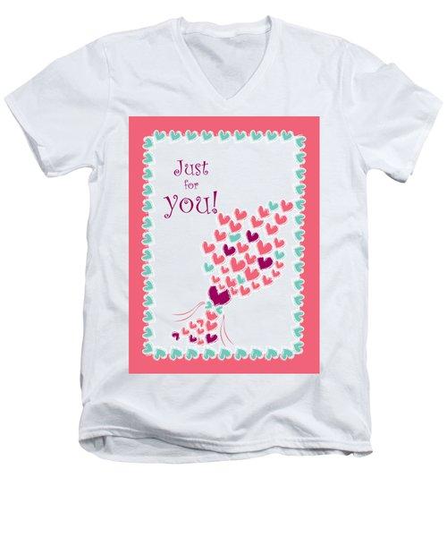 Just For You Men's V-Neck T-Shirt by Hye Ja Billie