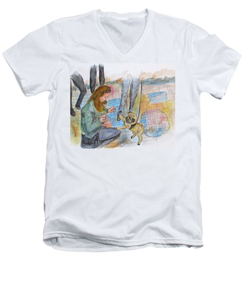 Just One More Men's V-Neck T-Shirt by Clyde J Kell