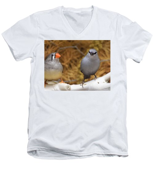Just Passing The Time Men's V-Neck T-Shirt by John Glass