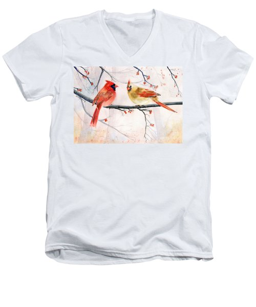Just The Two Of Us Men's V-Neck T-Shirt by Melly Terpening