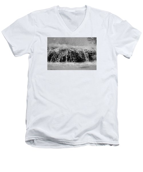 Men's V-Neck T-Shirt featuring the photograph Just Water by Dorin Adrian Berbier
