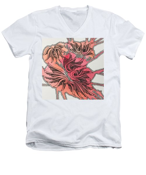Just Wing It Men's V-Neck T-Shirt by Jan Steinle