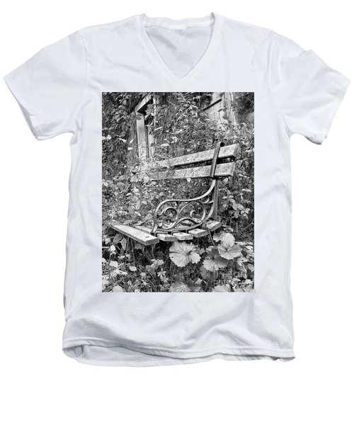 Just Yesterday Men's V-Neck T-Shirt by Tom Cameron