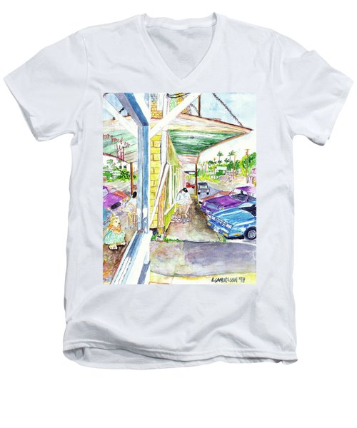 Just You And Me Men's V-Neck T-Shirt by Eric Samuelson