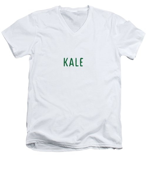 Kale Men's V-Neck T-Shirt by Cortney Herron