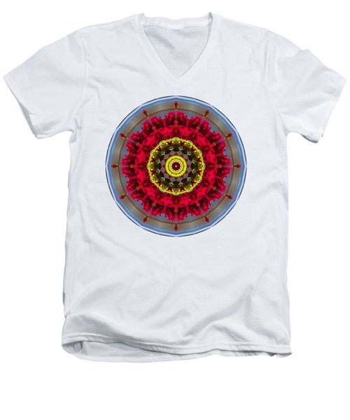Kaleidos - Nantucket Rose01 Men's V-Neck T-Shirt by Jack Torcello