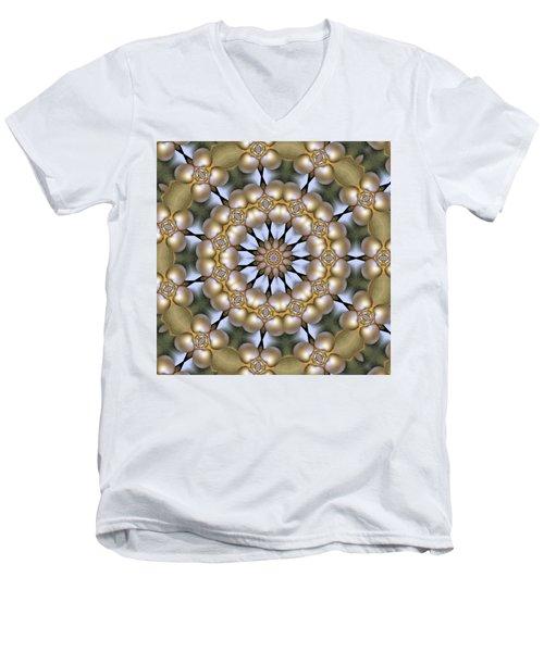 Men's V-Neck T-Shirt featuring the digital art Kaleidoscope 130 by Ron Bissett