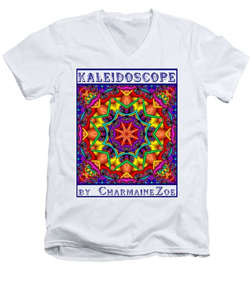 Kaleidoscope 2 Men's V-Neck T-Shirt