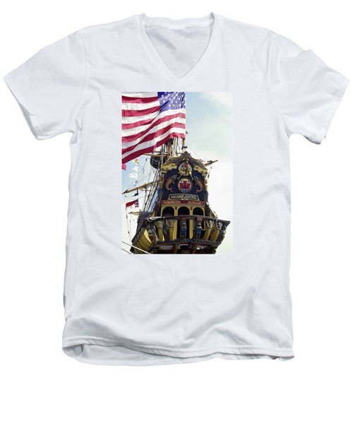 Kalmar Nyckel Tall Ship Men's V-Neck T-Shirt