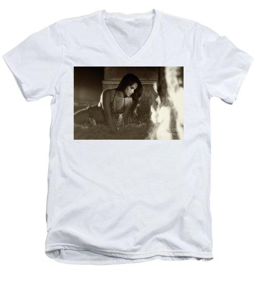 Kamasutra Girl 3 Men's V-Neck T-Shirt