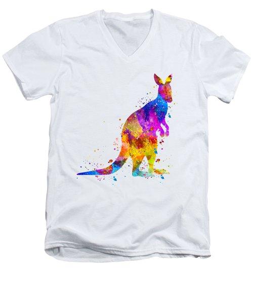 Kangaroo Art Men's V-Neck T-Shirt