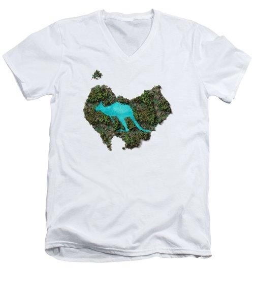 Kangaroo Island. Men's V-Neck T-Shirt
