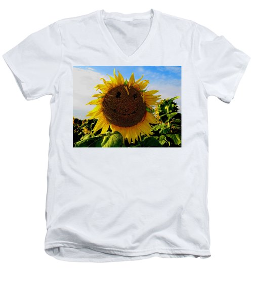 Kansas Sunflower Men's V-Neck T-Shirt