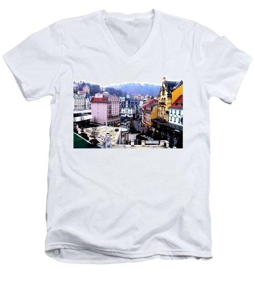 Karlovy Vary Cz Men's V-Neck T-Shirt