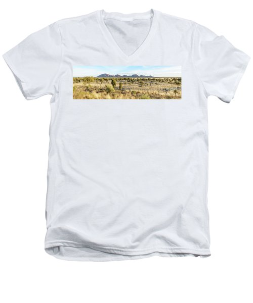 Men's V-Neck T-Shirt featuring the photograph Kata Tjuta 03 by Werner Padarin