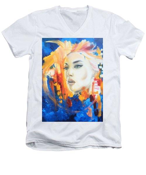 Kate Winslet Men's V-Neck T-Shirt by Matt Burke