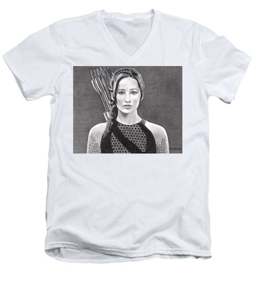 Katniss Men's V-Neck T-Shirt